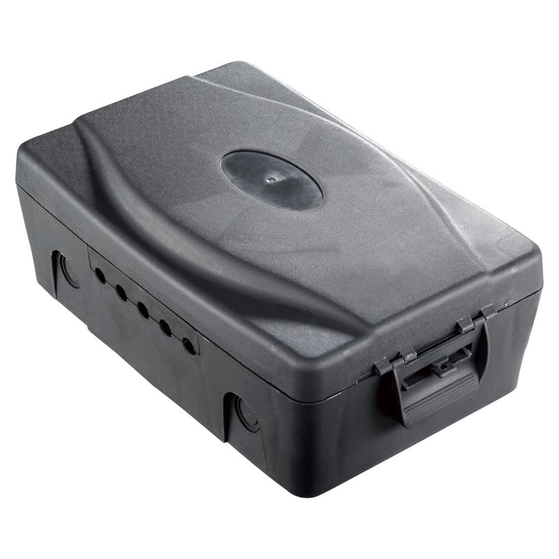 英國Masterplug - IP54防塵防濺水電線拖板收納盒 深灰色 WBX-MP 可放戶外使用