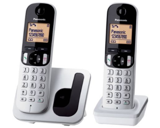 Panasonic 樂聲 KX-TGC212HK DECT數碼室內無線電話 銀色