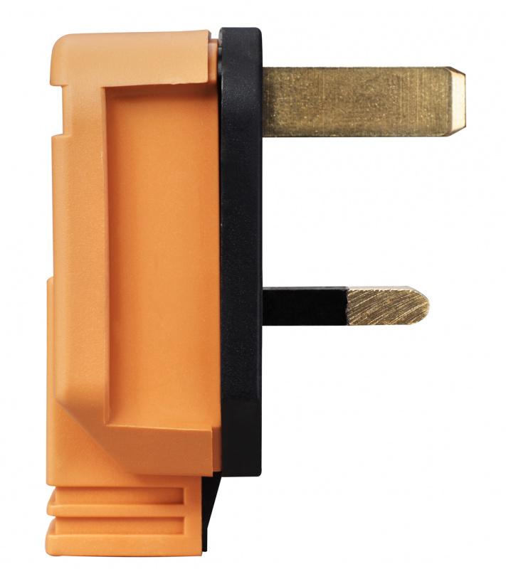 英國Masterplug -重型英式三腳插頭 13A保險絲 橙色 HDPT13O