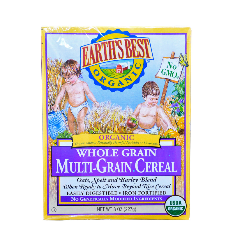 Earth's Best 地球最好 有機全麥多種穀物麥片 (227G)(3段)