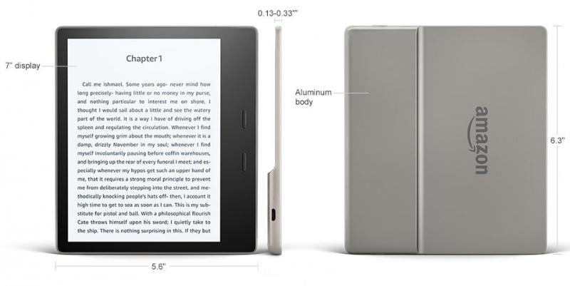 Amazon 亞馬遜 Kindle Oasis 3 (2019) 電子書閱讀器 Wi-FI (美版)(8GB)(32GB) (石墨色)