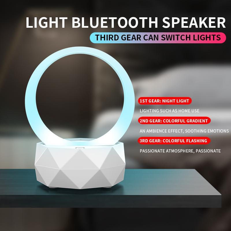 TWS 導光環LY-T1 藍芽擴音喇叭連幻燈 (藍色)