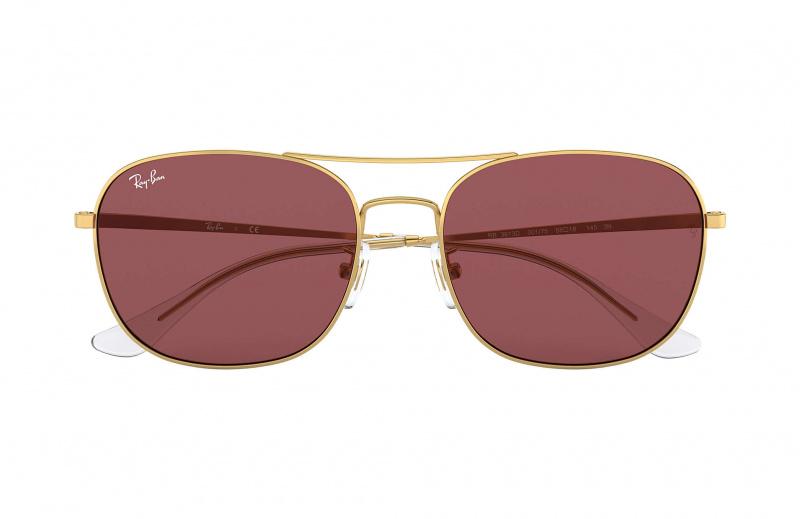 Ray-Ban RB3613D Dark Violet Classic 暗紫色經典鏡片太陽眼鏡 | 001/75 金色鏡框