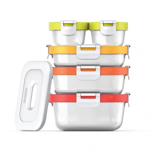 ZOKU Neat Stack 可嵌式雪種保冷食物盒套裝 (11件裝) - 微波爐可用