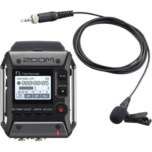 Zoom F1 Field Recorder + Lavalier Micr 錄音器連領夾式麥克風 (F1-LP) 香港代理行貨一年原廠保養