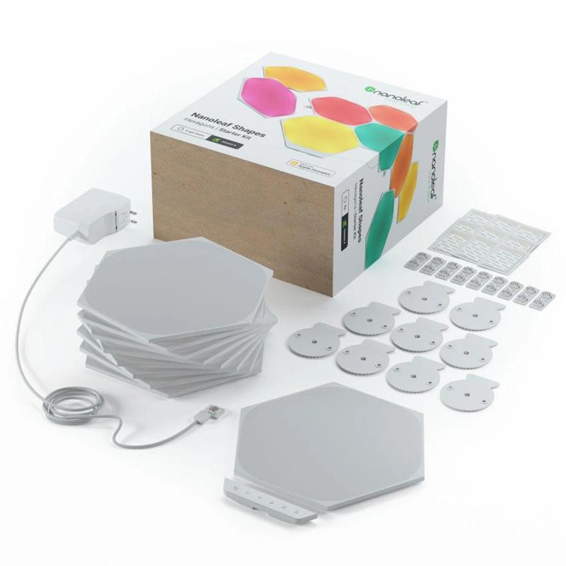 Nanoleaf - Shapes Hexagons智能拼裝照明燈Smarter Kit (9個六角形燈板)(行貨一年保養)