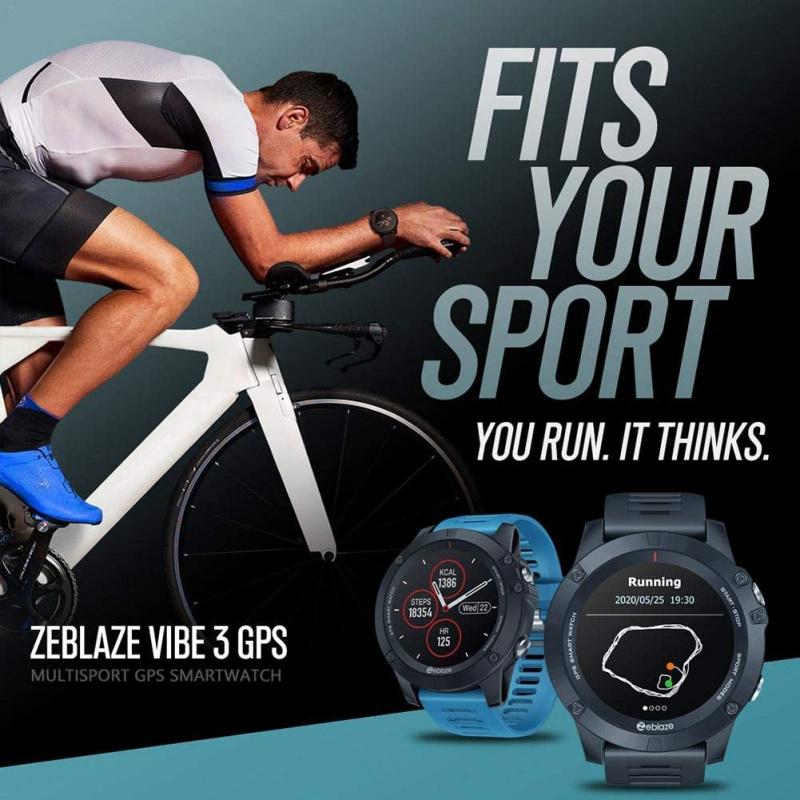 Zeblaze - VIBE 3 GPS 智能手錶 For Android/IOS 黑色
