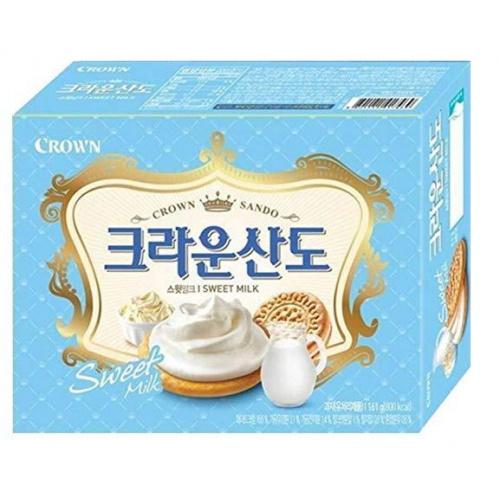 CROWN 牛奶味夾心曲奇餅 323g