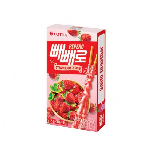 樂天草莓曲奇百力滋 37g