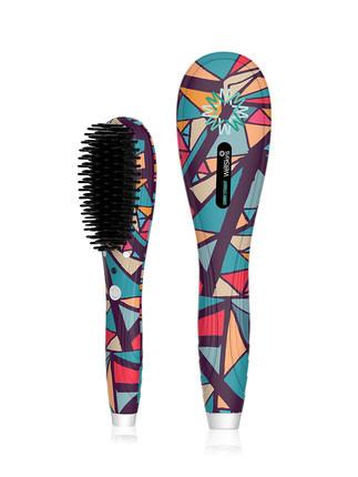 Wellskins WX-ZF105 陶瓷防燙護髮造型直髮梳 - 速熱/恒溫不傷發/直卷兩用