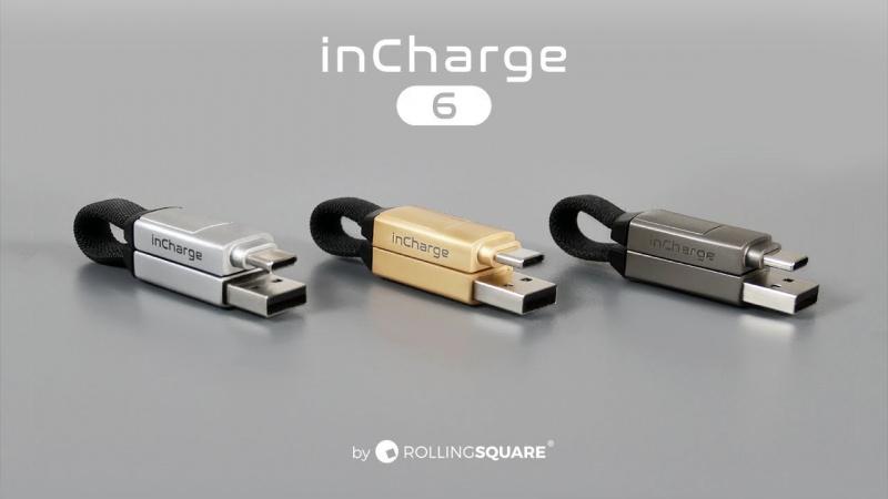 Rolling Square inCharge 6 軍用級6合1數據傳輸線 [3色]