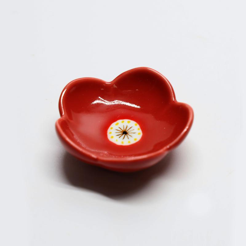 日本製造 可愛和式花形瓷器筷子架