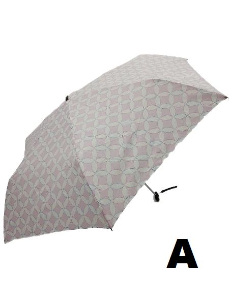 日本Water Front扁柄輕量折傘 (幾何圖案)
