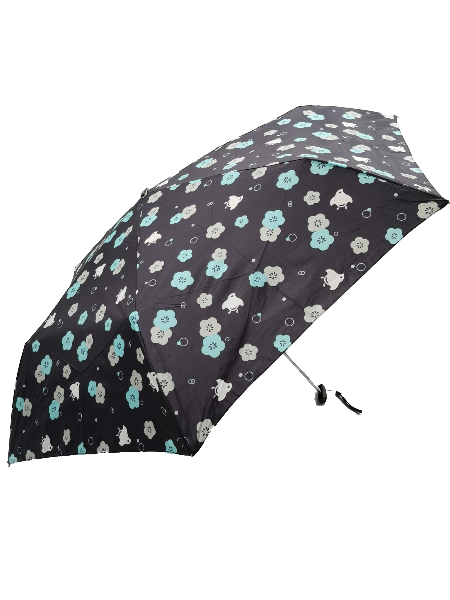 日本Water Front扁柄輕量折傘 (小鳥與花)