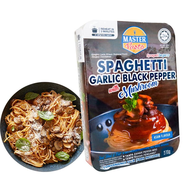 Master Pasto - 3分鐘即食輕盈香蒜黑胡椒蘑菇意粉 [270g]