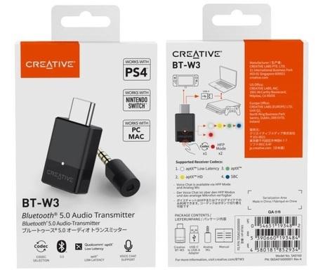 Creative BT-W3 USB-C 藍牙音效傳輸器