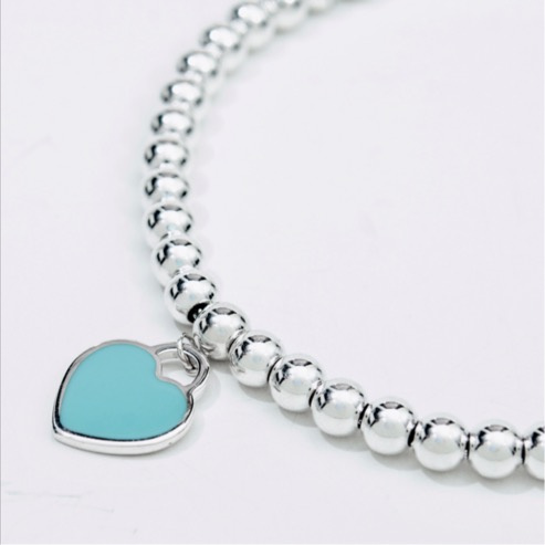 Tiffany & Co Mini Heart Tag Beads Chain (26859905)