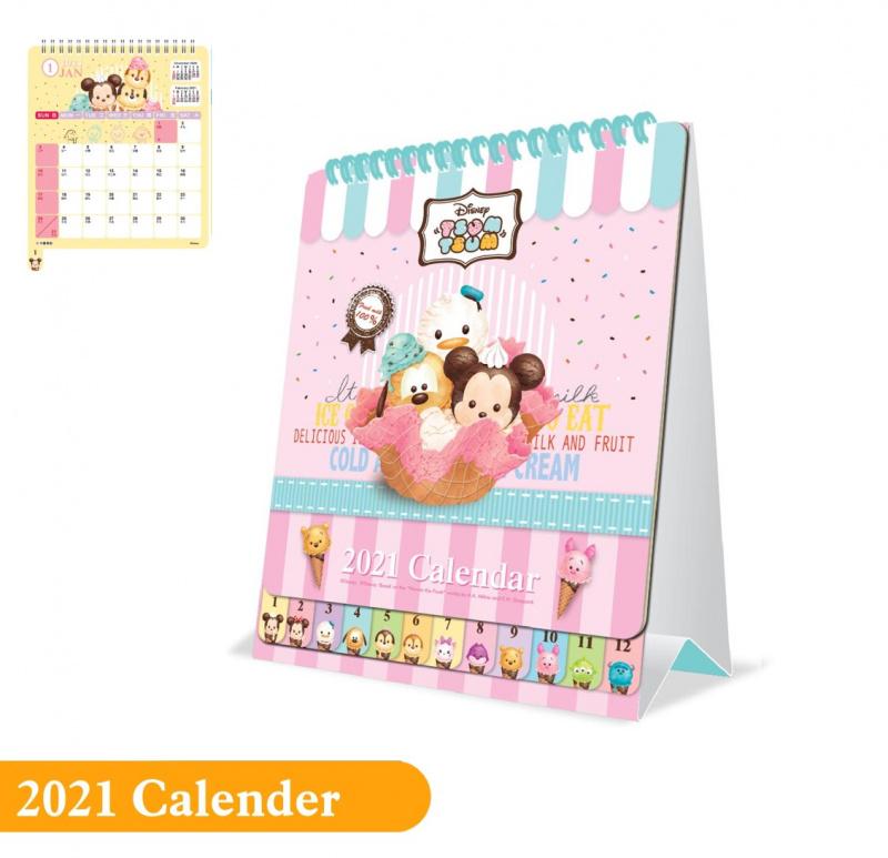 LINE FRIENDS/迷你兵團/小熊維尼/TSUMTSUM - 2021年座檯月曆