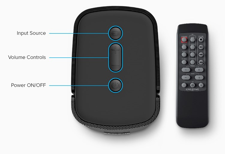 Creative Compact Hi-Fi 2.0 Desktop Speakers T100 藍牙喇叭