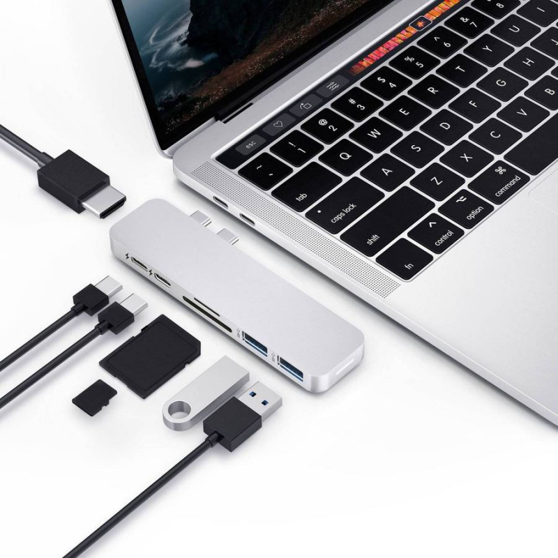 HyperDrive Duo 7-in-2 USB-C Hub for Macbook Pro/Air (2020 News) - HD28C