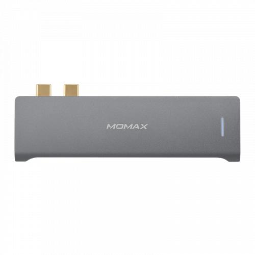 Momax Onelink 7合1 雙USB-C 擴充器 DH12
