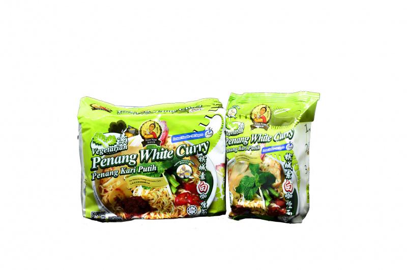 Nyor Nyar 馬來西亞娘惹素白咖喱即食麵 [一袋4小包]