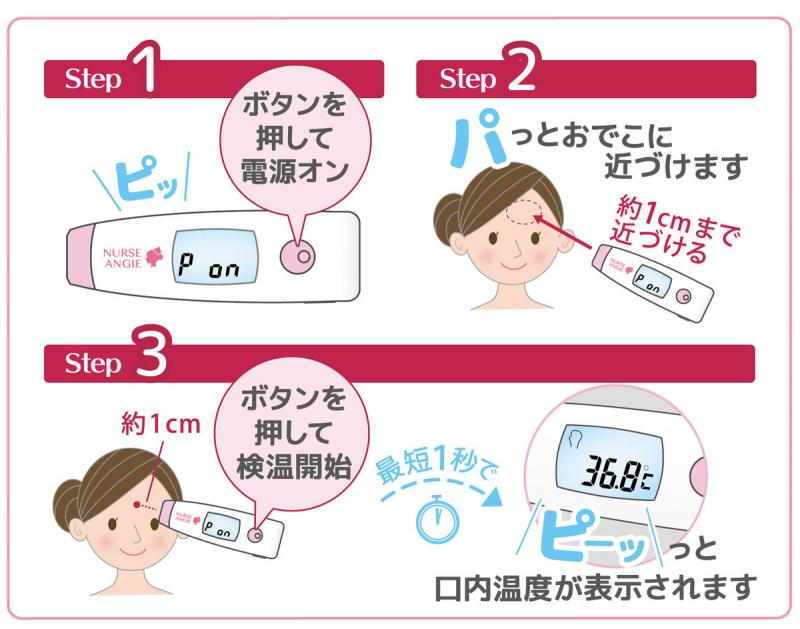 Nurse Angie - 非接觸式體溫計 NIR-03 (探熱 溫度計 量體溫 抗疫 額探)