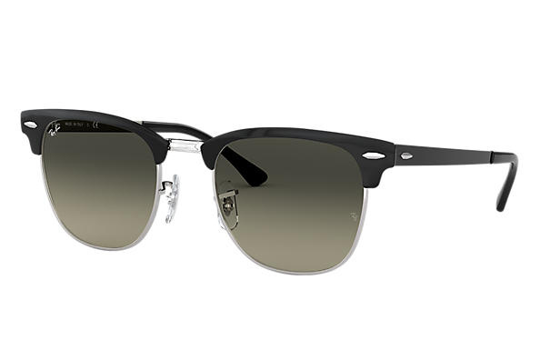 Ray-Ban RB3716 900471 Clubmaster Metal 太陽眼鏡   黑色鏡框及灰色漸變鏡片