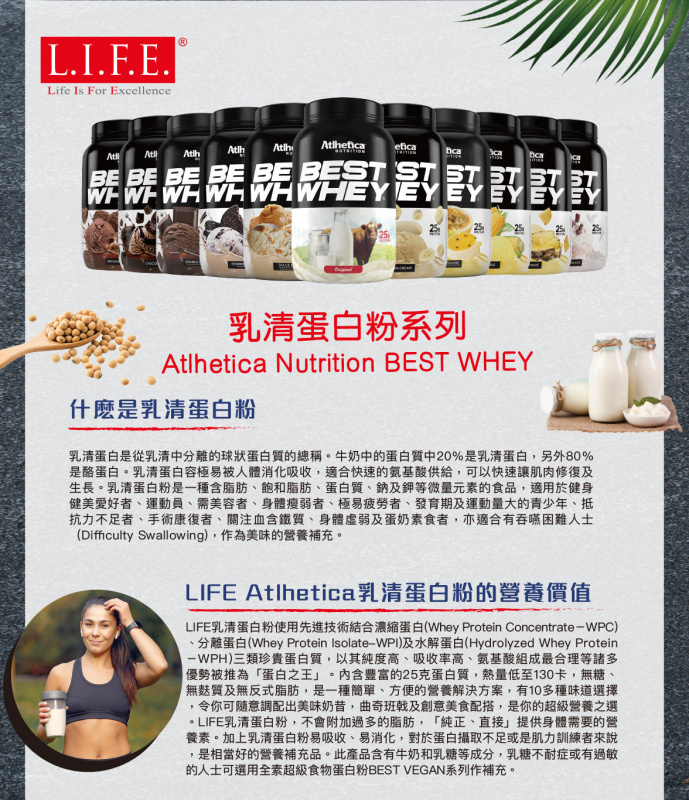 BEST WHEY 至尊乳清蛋白粉(士多啤梨) 900克 (送搖搖杯)