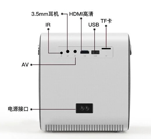 山林 小型便攜4k 高清智能無線投影機 Q3
