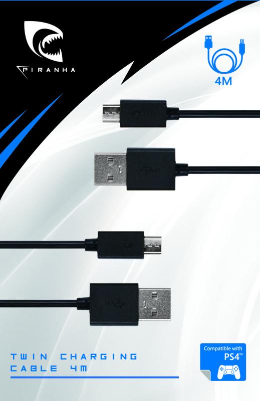 Piranha PlayStation PS4 充電線 4M * 2