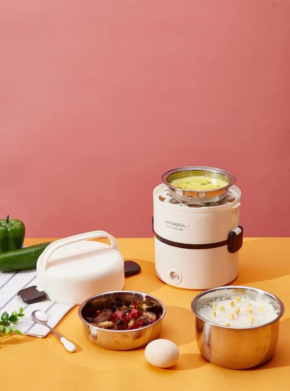 如意熊 Anion三層電熱飯盒(RW-08) Heating Lunch Box🍝6大功能🍛