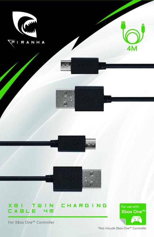 Piranha XB1 Xbox One充電 電纜 4M * 2