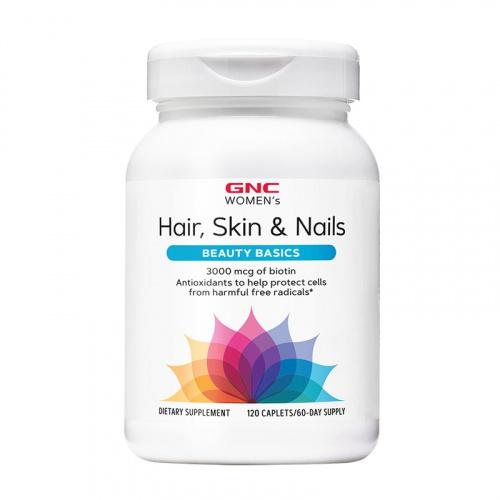 GNC Women's Hair, Skin & Nails Formula 女仕護髮美肌 頭髮皮膚健康配方 膠原蛋白潤澤營養片 (120粒)