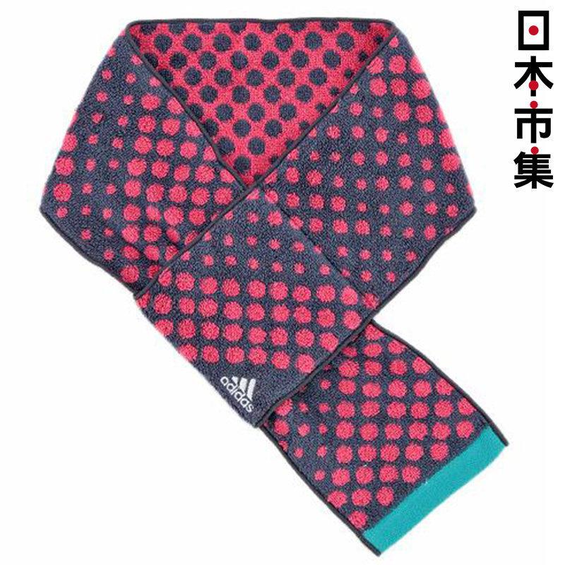 日版 Adidas【灰底紅波點】純棉運動毛巾 12x85cm【市集世界 - 日本市集】
