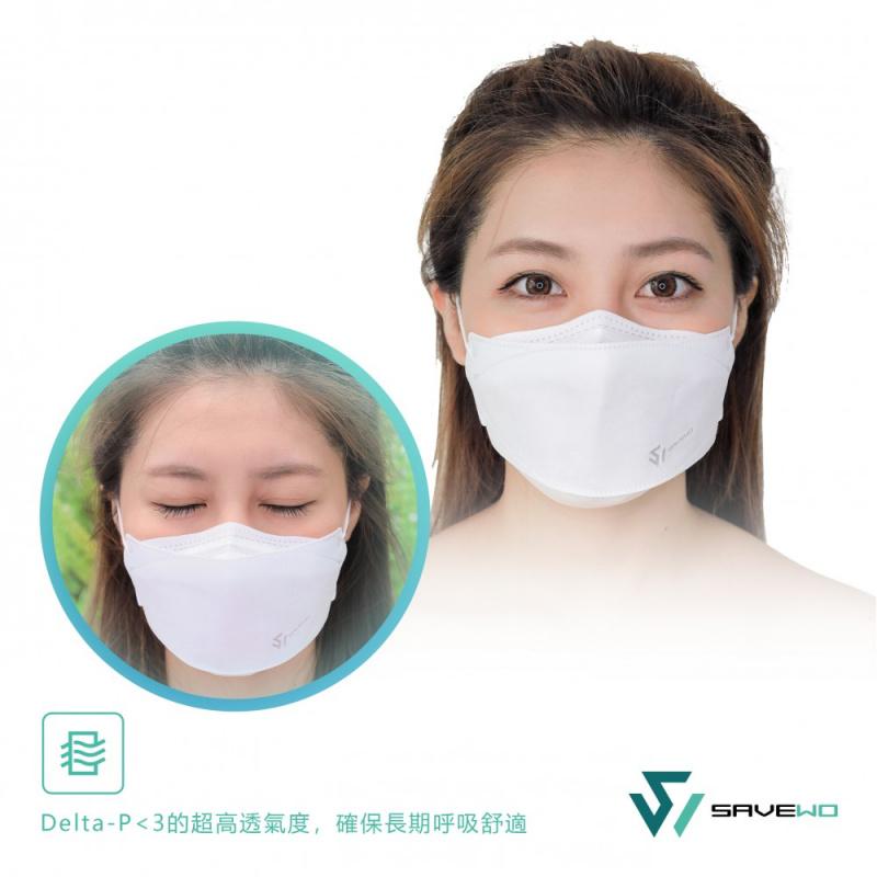 SAVEWO 救世 3D3PC 3D MASKS 超立體口罩 - 清涼型 [圓帶] (30片獨立包裝/盒)