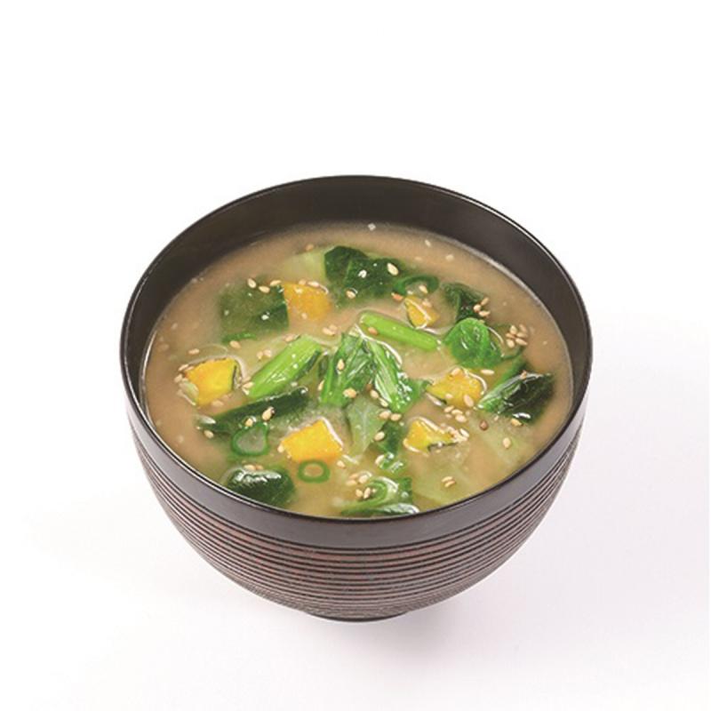 日本【新食代コスモス】無添加 增量即食芝麻綠黃蔬菜味噌湯 11.2g【市集世界 - 日本市集】