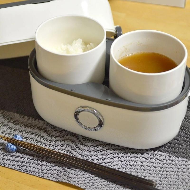 Thanko 雙碗式蒸煮便當盒