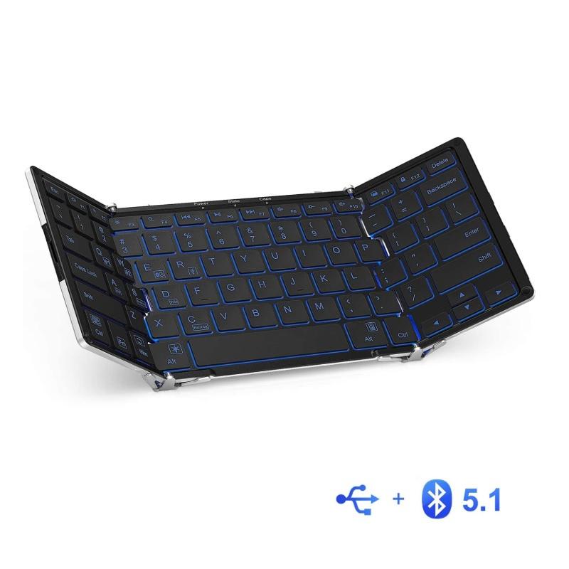 iClever IC-BK05 背光 銀色折疊藍牙鍵盤