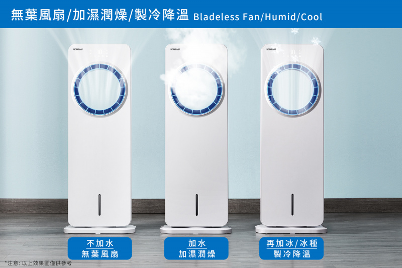 HOME@dd® 無葉搖頭智能遙控冷風機