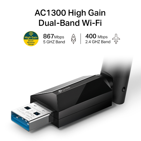 TP-Link Archer T3U Plus AC1300 高增益無線雙頻 USB 網卡