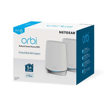 Netgear Orbi RBK752 Mesh WiFi 6 專業級三頻路由器 2 件套裝
