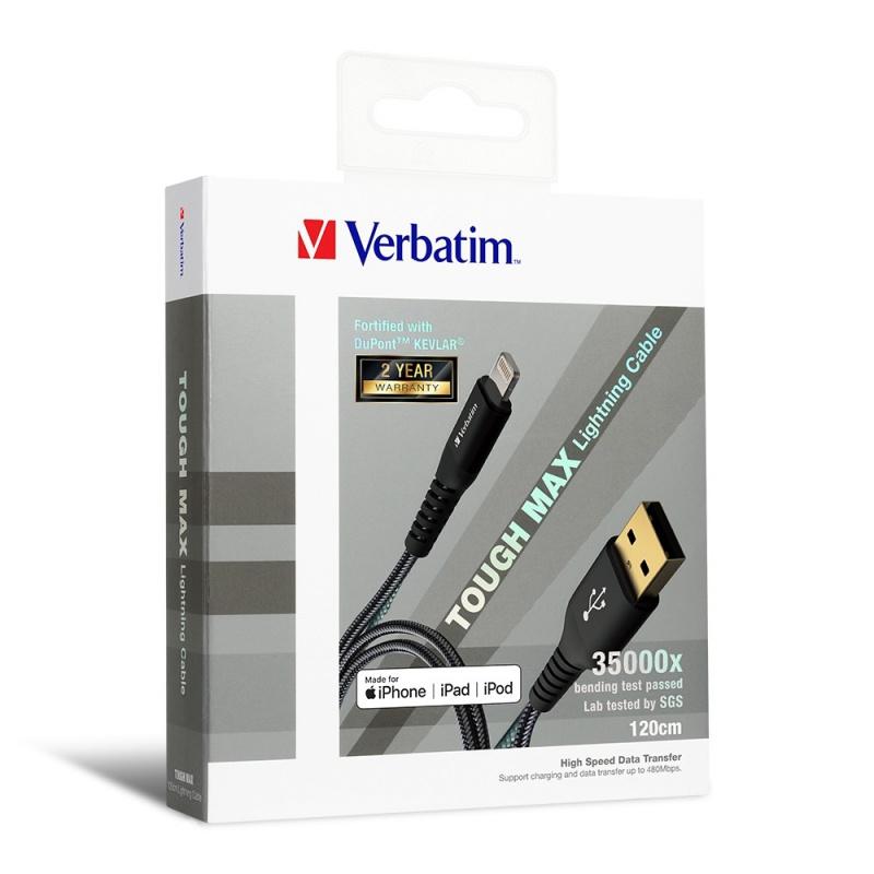 Verbatim Sync & Charge Tough Max Lightning Cable 120cm