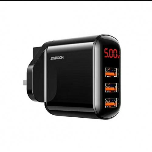 Joyroom HKL-USB59 3.4A 3USB 智能數顯英式三腳充電器