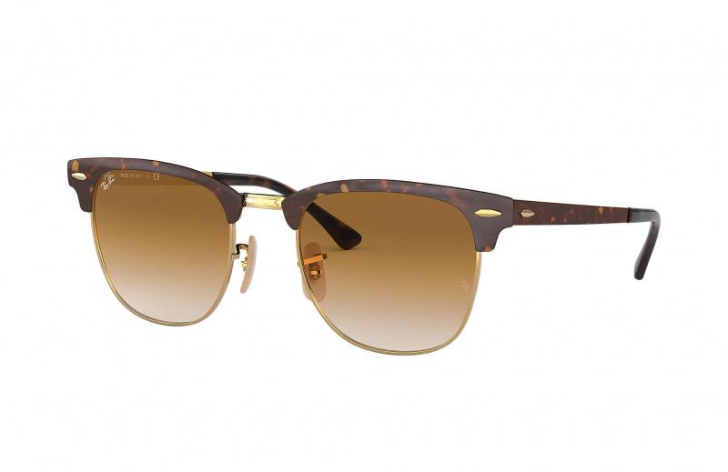 Ray-Ban RB3716 900851 Clubmaster Metal 太陽眼鏡   玳瑁鏡框及淺棕色漸變鏡片