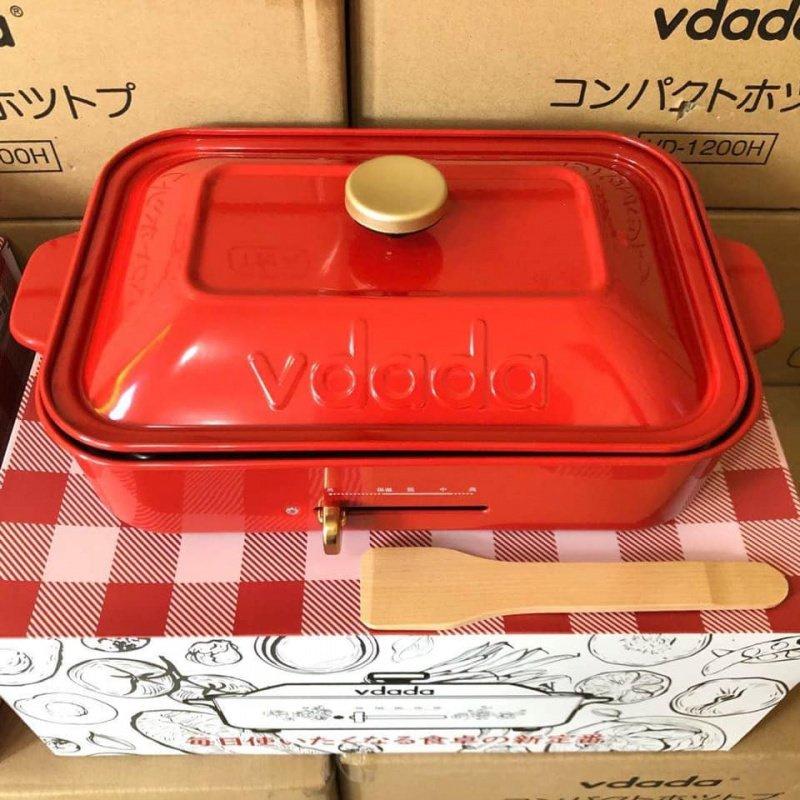 Others - 日本 Vdada 多功能電熱鍋 平面 + 小丸子 VD-1200H Candy Purple