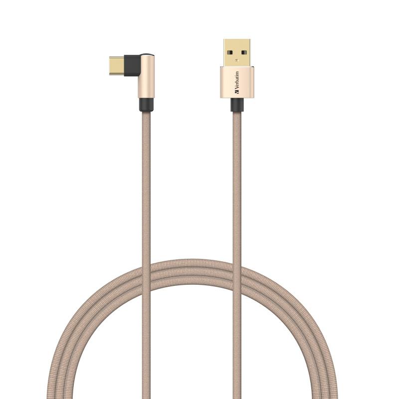 Verbatim 120CM L-Shaped Type C to USB-A 充電傳輸線