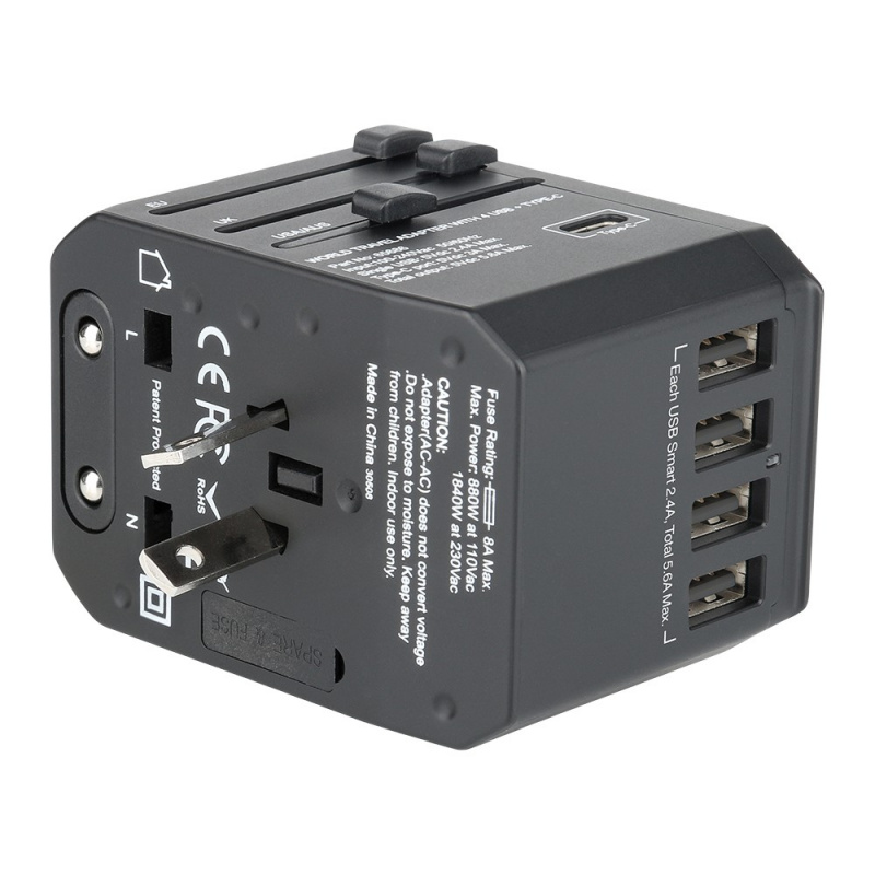 Verbatim 5 Ports Universal Travel Adapter