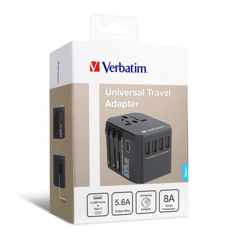 Verbatim 5 Ports Universal Travel Adapter