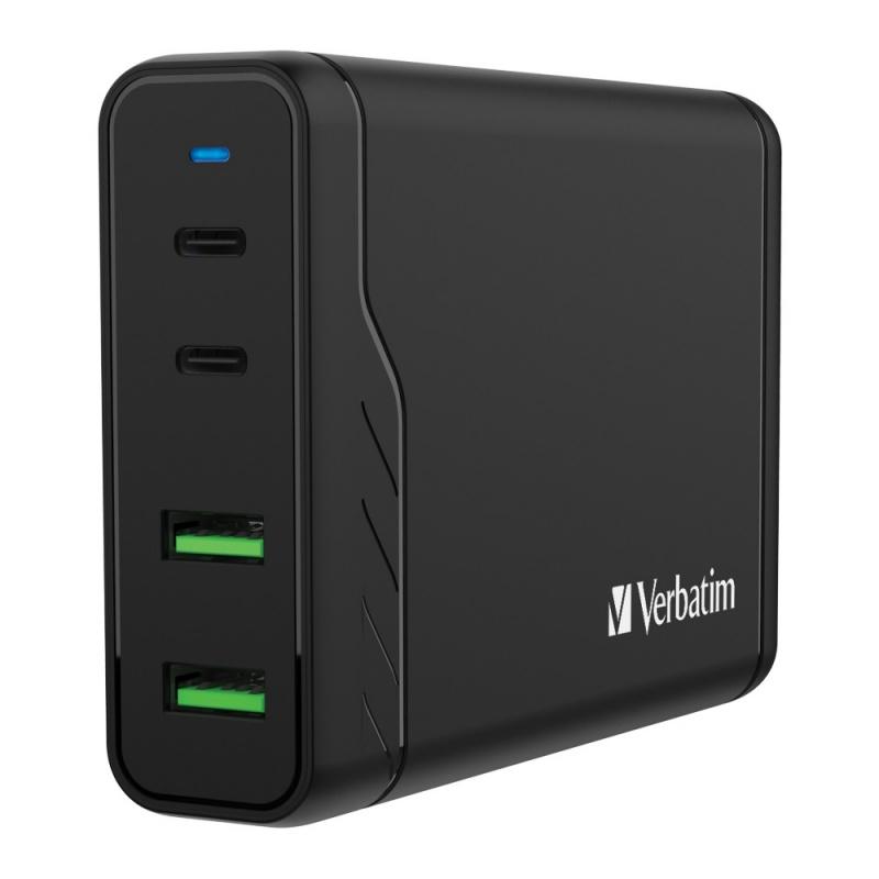 Verbatim 4 Port 100W PD & QC 3.0 USB Charger (66402)